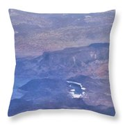 Aerial View Of Hoover Dam Throw Pillow