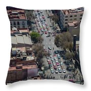Aerial View Of Mexico Cityscape Throw Pillow