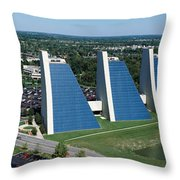 Aerial View Of Office Buildings Throw Pillow