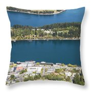 Aerial View Of Queenstown In New Zealand Throw Pillow