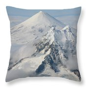 Aerial View Of Shishaldin Volcano Throw Pillow