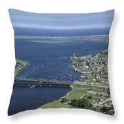 Aerial View Of The Mouth Of Merrimack Throw Pillow