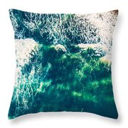 Aerial View Of The Ocean Throw Pillow