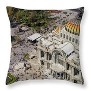 Aerial View Of The Palace Of Fine Arts Throw Pillow