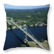 Aerial View Of The Thousand Island Throw Pillow