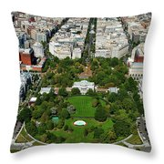 Aerial View Of The White House Throw Pillow