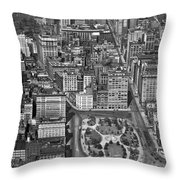 Aerial View Of Union Square Throw Pillow