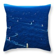 Aerial View Of Windsurfer Throw Pillow