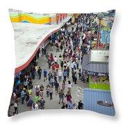 Aerial View Santa Cruz Boardwalk Throw Pillow