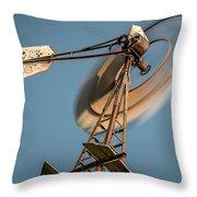 Aermotor Windmill Throw Pillow