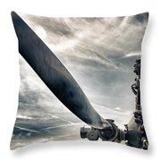 Aero Machine Throw Pillow by Nathan Larson