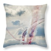 Aerobatic Group Formation  At Blue Sky Throw Pillow
