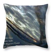 Aerobatic Team Throw Pillow