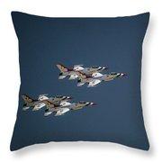 Aerobatics Throw Pillow