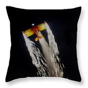 Aerobatics With Firework Throw Pillow