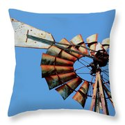 Aeromotor In Color Throw Pillow