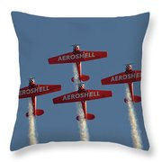 Aeroshell Aerobatic Team Throw Pillow by Susan Rissi Tregoning