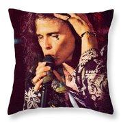 Aerosmith-94-steven-1192 Throw Pillow
