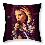 Aerosmith-94-steven-1192 Throw Pillow