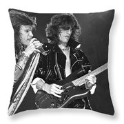 Aerosmith Tyler And Perry Throw Pillow