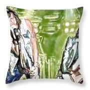 Aerosmith Watercolor Throw Pillow