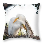 Affectionate Chicks Throw Pillow