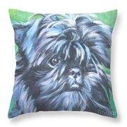 Affenpinscher Portrait Throw Pillow