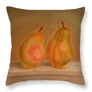 Affinity Pears Throw Pillow