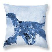 Afghan Hound-blue Throw Pillow
