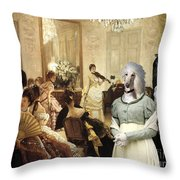 Afghan Hound-the Concert  Canvas Fine Art Print Throw Pillow
