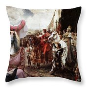 Afghan Hound-the Reverance To The Queen Canvas Fine Art Print Throw Pillow