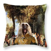 Afghan Hound-the Winch Canvas Fine Art Print Throw Pillow