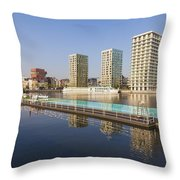 Afloat Swimming Pool Throw Pillow