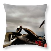 Aflutter Throw Pillow
