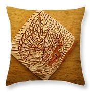 Afraid - Tile Throw Pillow