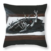 Afraid In The Darkness Throw Pillow