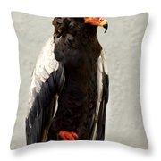 African Eagle-bateleur II Throw Pillow