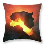 Africa Conceptual Design Throw Pillow