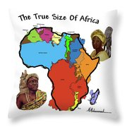 Africa In Perspective Throw Pillow