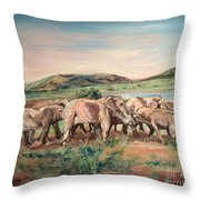 Africa Throw Pillow by Rosemary Kavanagh