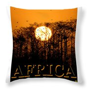 Africa Smart Phone Work A Throw Pillow