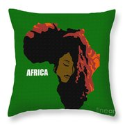 Africa Woman Throw Pillow