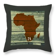 Africa Za Throw Pillow