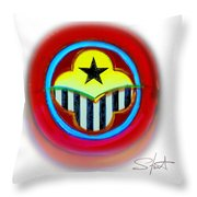 African American Button Throw Pillow
