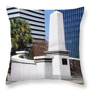 African American History Monument Throw Pillow