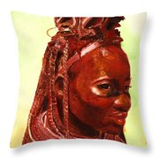 African Beauty Throw Pillow