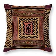 African Bird Collage Throw Pillow
