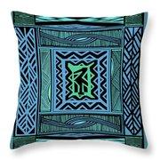 African Blue Bird Throw Pillow