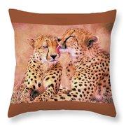 African Cheetah's  Throw Pillow