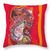 African Crown Throw Pillow